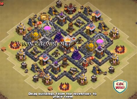 layout coc th6 hybrid coc best town hall th 6 war bases