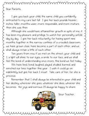 Parent Letter Exles Day Of School letter to parents last day school parents