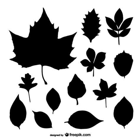 imagenes hojas negras siluetas negras de hojas descargar vectores gratis