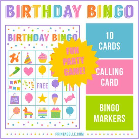 printable birthday cards video games birthday bingo game party printables games