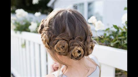 Flower Hairstyles by Flower Crown Braid Updo Hairstyles
