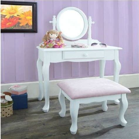 Kid Vanity Table And Chair White Dressing Table