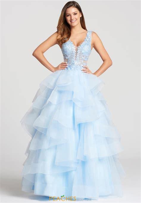 Id 877 Blue Flower Dress ellie wilde dress ew117081 peachesboutique