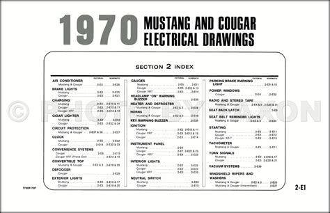 1970 ford mustang mercury original wiring diagram