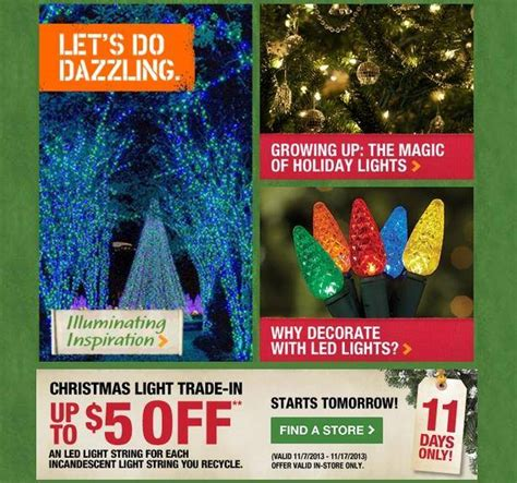 home depot christmas light trade in up to 5 off led lights