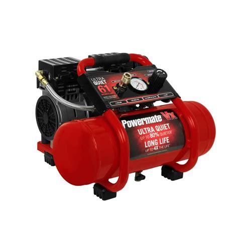 powermate 2 gal 125 psi 1 hp ultra free electric air compressor sac22hpp the home depot