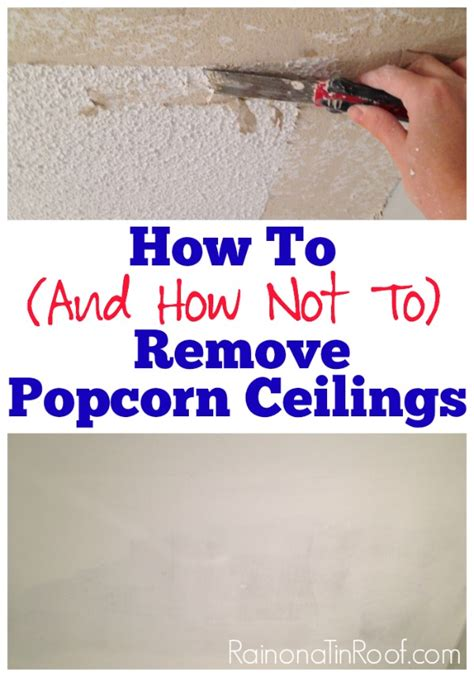 How To Remove Popcorn From Ceiling by Homeright Brand Ambassador On A Tin Roof Homeright