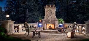 prefab outdoor fireplace at summer ideas