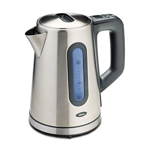 stainless steel kettle oster 174 1 7l variable temperature kettle stainless steel bvstktvt01 33a oster 174 canada