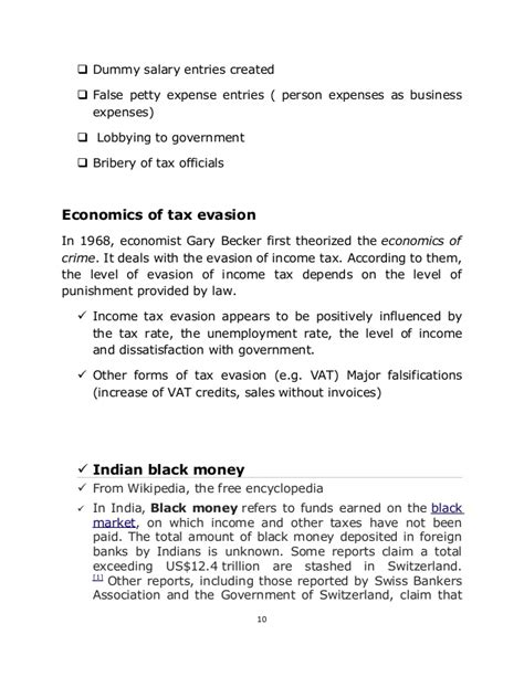 tax evasion research paper tax fraud research paper
