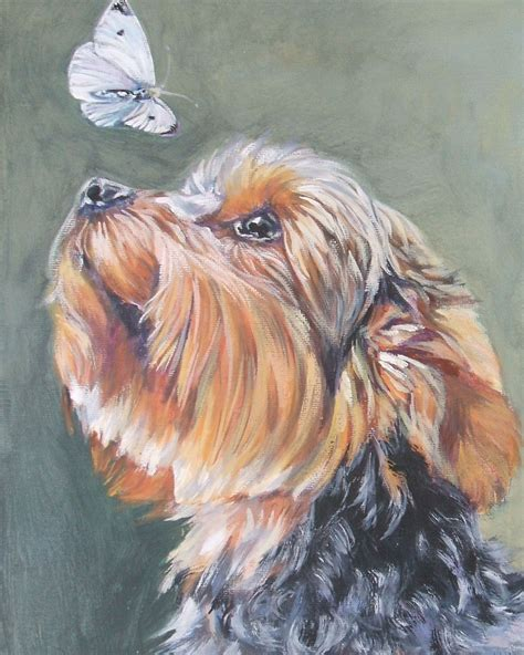 yorkie painting terrier yorkie portrait canvas print of
