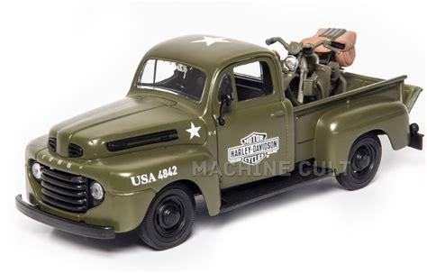 Maisto H D Custom 1948 Ford F 1 1948 Fl Panhead 124 miniatura ford f 1 up 1948 harley davidson wla