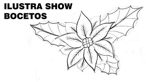 imagenes de pascuas navideñas para dibujar c 243 mo dibujar flores de nochebuena navide 209 as 2 tutorial