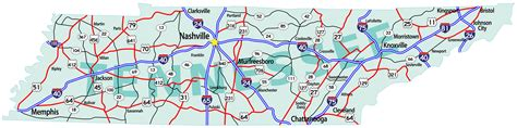 tennessee road map tennessee map guide of the world