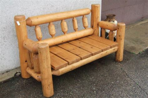 cedar log bench wood furniture pinterest cedar log bench plans pictures to pin on pinterest pinsdaddy