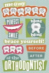 printable dentist stickers scrapbook braces on pinterest braces braces off and