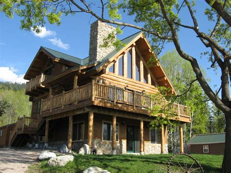 Flathead Lake Montana Cabin Rentals by Log Home Overlooking Flathead Lake Homeaway Bigfork