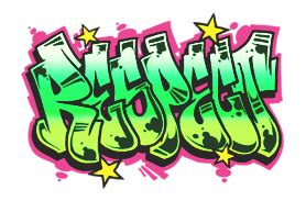 respect multicolor graffiti sticker  amanda