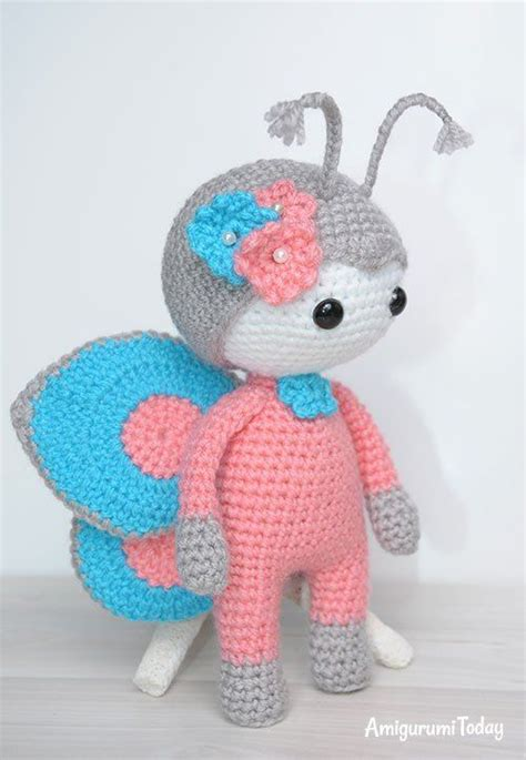 julio toys crochet patterns amigurumi amigurumi doll in butterfly costume free pattern