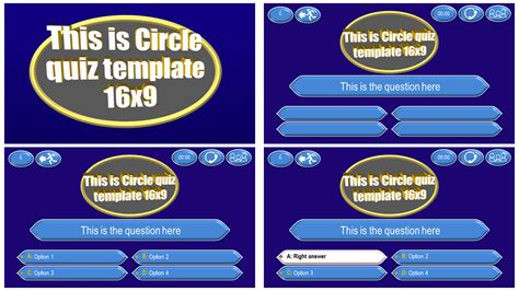 Quiz Template Circle Download Ppt Theme Quiz Template Powerpoint