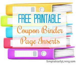 Coupon Template For Pages by Free Printable Coupon Binder Page Inserts