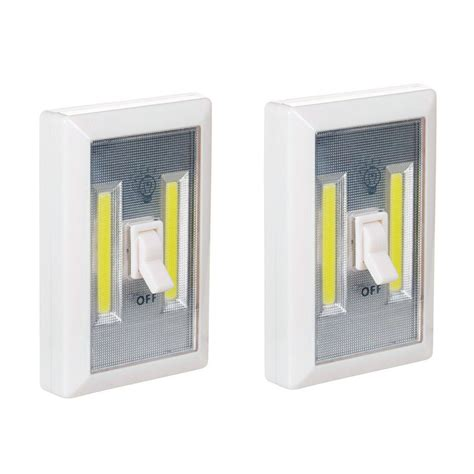 2 pack wireless light wall switch w cob led