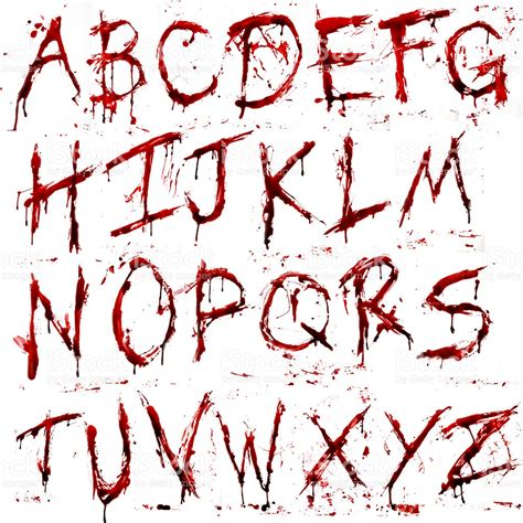 Letter With Blood Bloody Alphabet Stock Vector 484778506 Istock