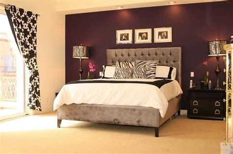i love the purple striped wall bedrooms pinterest love the accent wall in a different color though and the