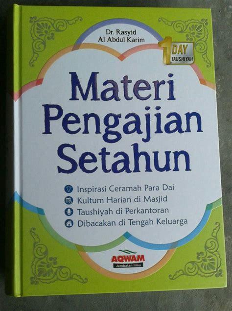 buku materi pengajian setahun toko muslim title