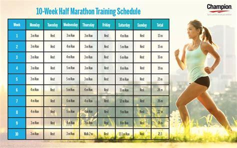 Potato To Half Marathon In 10 Weeks by 10 Week Half Marathon Plan Search