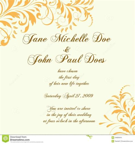 wedding invitation design yellow wedding card or invitation with abstract floral background
