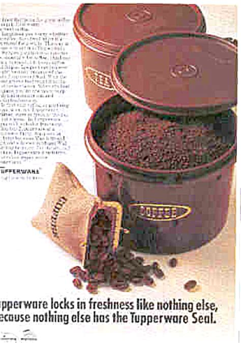 Miss Canister Tupperware 1970 tupperware harvest brown canisters ad tupperware
