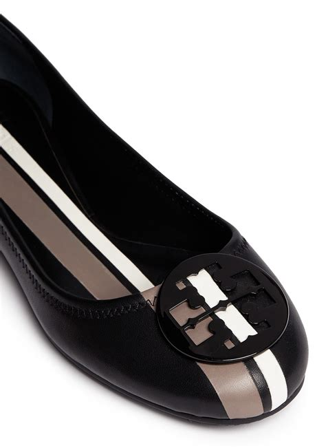 leather ballet flats burch reva leather ballet flats in black lyst