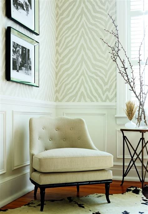 wallpaper chair rail chair rail and zebra wallpaper home