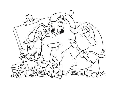 Dessin 233 L 233 Phant Artiste Pour Enfant 224 Imprimer Gratuit