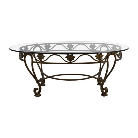 iron coffee table glass top 90 iron cast glass top antique coffee table tables