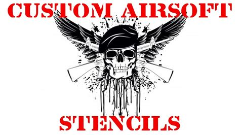 custom stencil templates custom made airsoft gun stencils and decals