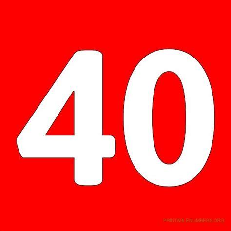 printable numbers 1 40 7 best images of printable numbers 1 40 printable number