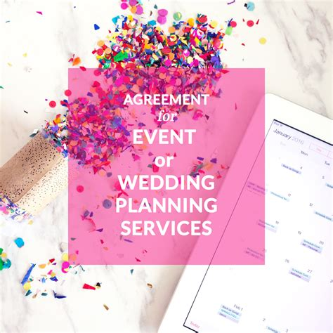 Wedding Planning Services by Agreement For Event Or Wedding Planning Services