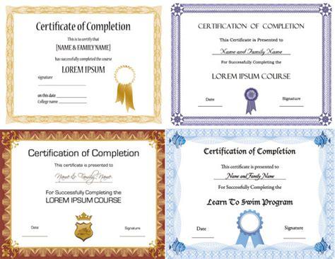 4 designer beautiful certificate template 2 vector