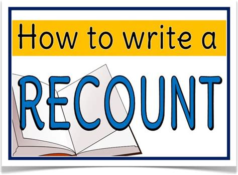 printable recount poster how to write a recount treetop displays downloadable