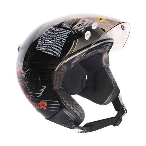 Helm Zeus Zs 210 jual zeus zs 210b retro helm half black dd65 silver harga kualitas terjamin