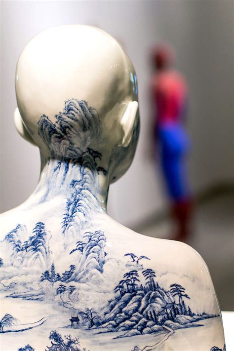china designs porcelain busts imprinted with chinese decorative designs
