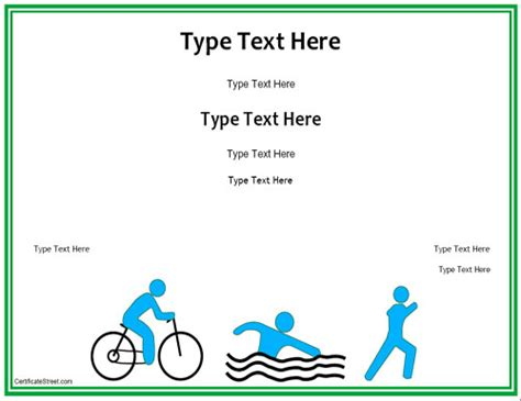triathlon template blank certificates triathlon award certificate template