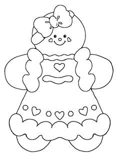 Free Christmas Coloring Pages Gingerbread Girl Coloring Gingerbread Baby Coloring Pages