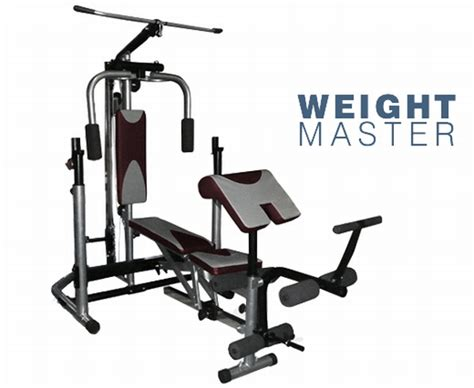 Weightmaster Bench Gym With 100kg Free Weights Ready To