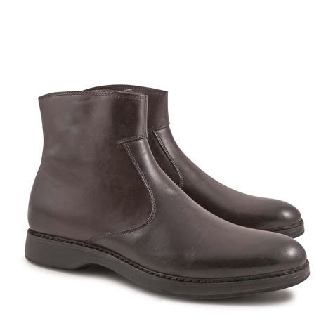 Handmade Italian Leather Boots - handmade s ankle boots with zip in chocolat calf