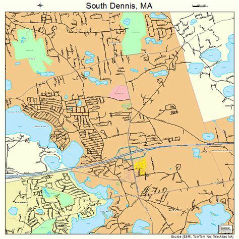 dennis ma south dennis massachusetts map 2563655