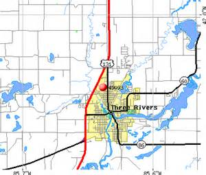 Three Rivers Michigan Map by 49093 Zip Code Three Rivers Michigan Profile Homes