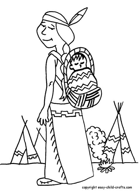Coloring Pages Indians - Coloring Home